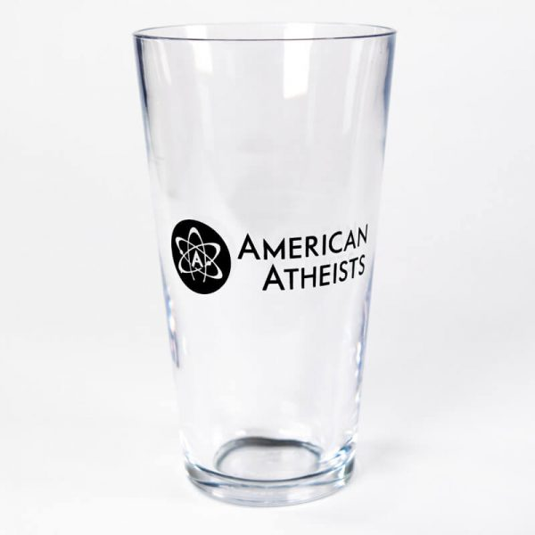 American Atheist Pint Glass