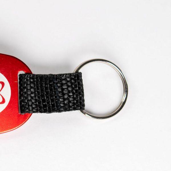 American Atheist Keychain Ring Detail