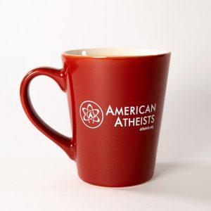 Red American Atheist Mug