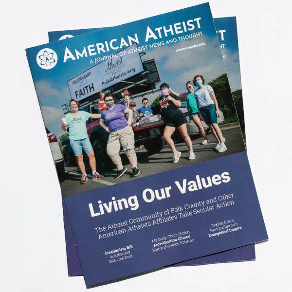 Cover of American Atheist Magazine Q2 2021
